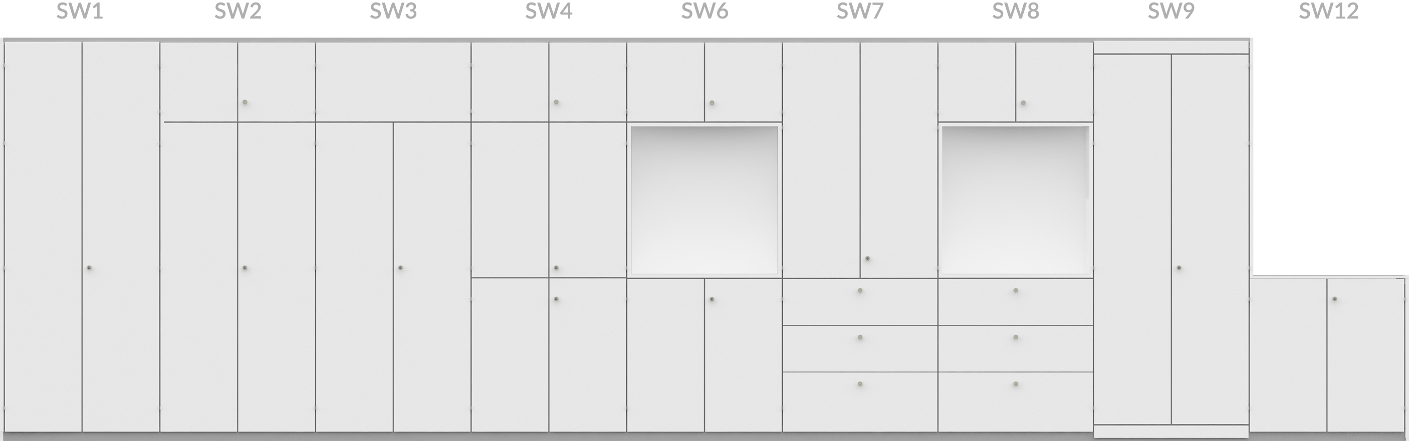 StorageWall configurations